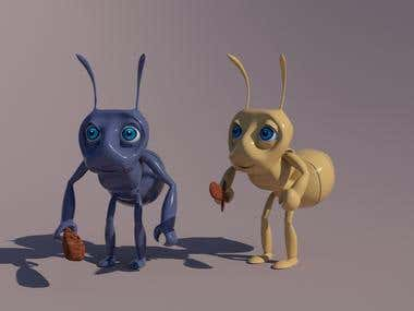 3D Ant Character 2