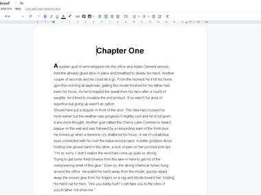 Manually Copy Typing a English Book