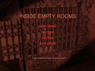 Main menu of a game.