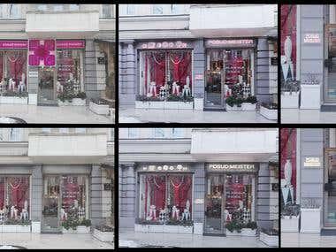 Storefront design and visualization