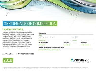 certificate from autodesk