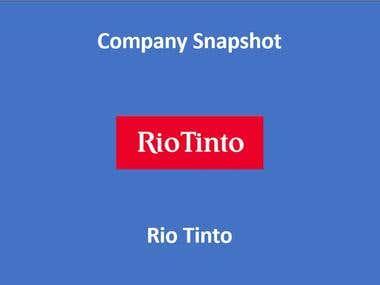 Rio Tinto Snapshot example