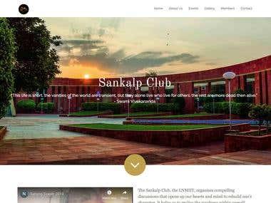 Sankalp Club Website