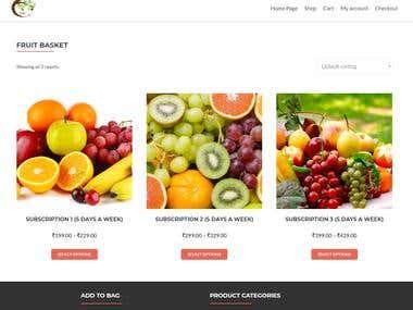 Fruitsnfit - Food E-Commerce