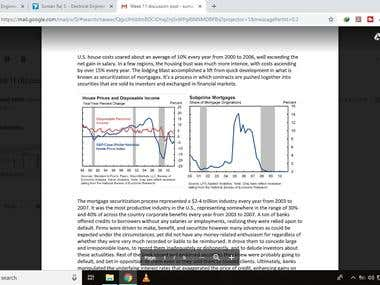 Macroeconomics - Discussion Post Writing