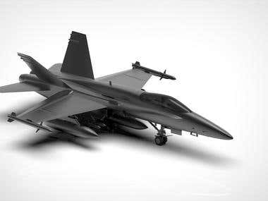 Air Craft Modelling and Rendering