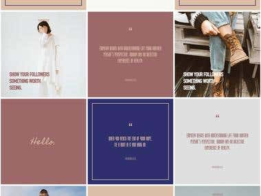 Instagram Design Portfolio