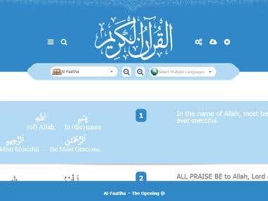 Multilingual Quran