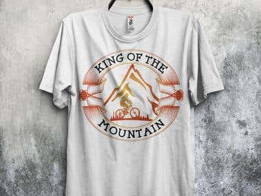 Mountain bike t-shirt design bundle