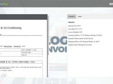 Invoice OCR django web site