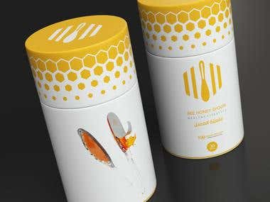 BEE HONEY SPOON - Packaging and graphics