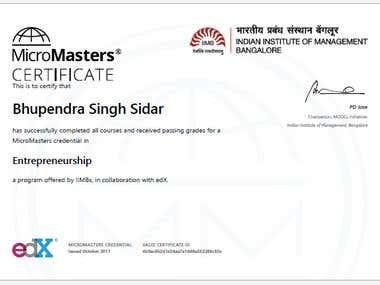 MicroMasters Entrepreneurship Certificate