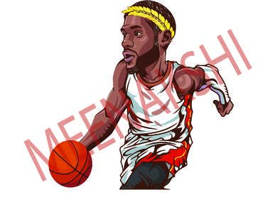 Illustration Basketball Character