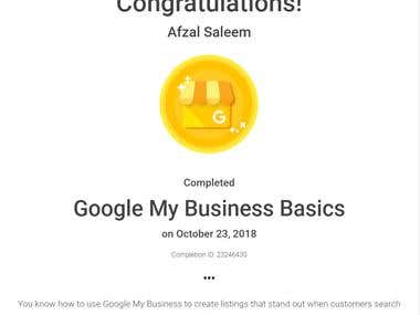 Google My Business Basics Certification
