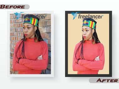 Background Change for (Model or Magazine Artist)