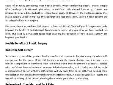 Blog on Plastic Surgery Niche