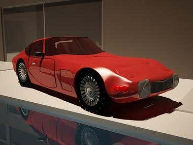 car modelling and rendering using 3Ds max