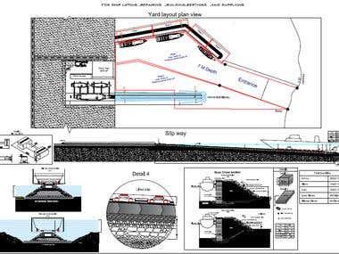 Ship yard layout