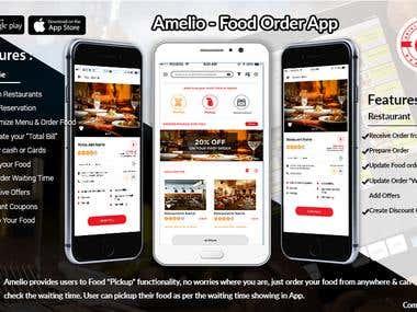 Amelio (Food order app)
