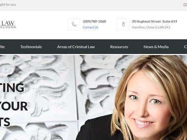 Criminal Lawyer Website