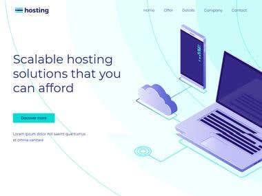 Full Website For Web Hosting Company
