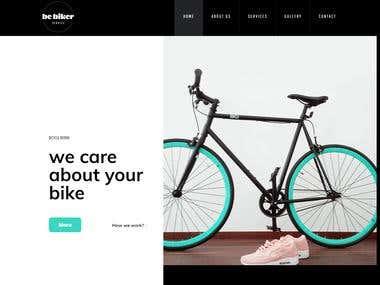 Full Responsive Website For Cyclist, Biker, Racer