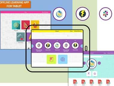 Offline Learning App on Tablet