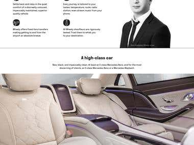 App and website - For luxury private chauffeur and car