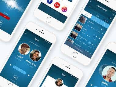 Deepr App UI/X Design