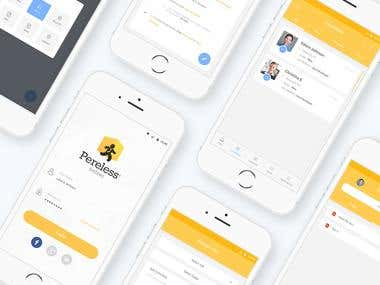 Pereless App UI/X Design