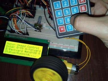Motor Speed controller using ATmega16A