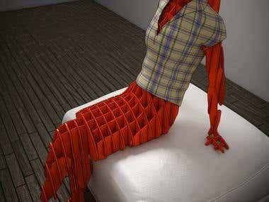 3D Sliceform Mannequin