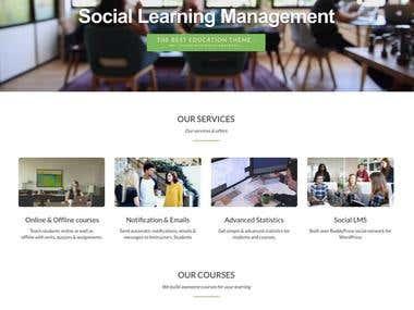Design of website