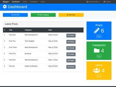 Blogon Admin UI With Bootstrap