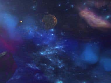 Space animation for music video