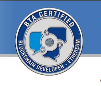 BTA Certified Blockchain Developer Ethereum