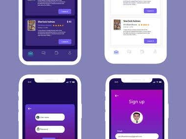 UI design for Mobile app