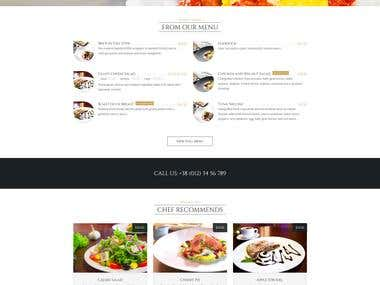 Restaurant Wordpress Website Design PSD Template