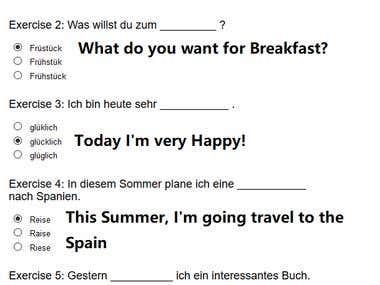 Deutsche Übersetzung für Anfänger