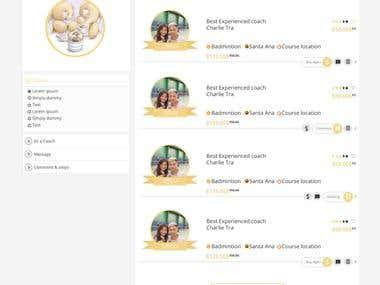 UI design for Skillopedia