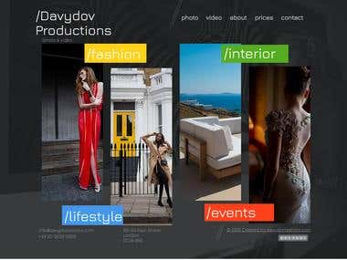 Photostudio web-site in English