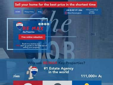 Real Estate agency Wix web-site in London
