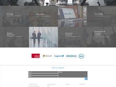 Management Consultancy Firm WIX web-site in City of London