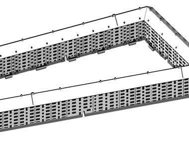 3D Model with plan and Elevation
