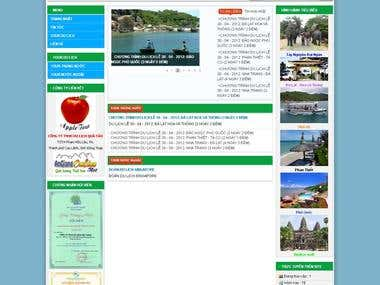 Vietgreentour Company Website