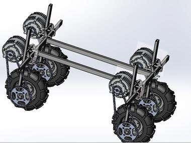 SolidWorks design for an Agricultural_Spraying_Car_Robot.