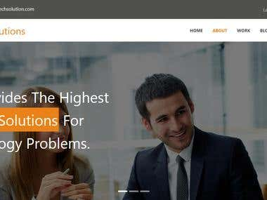TechSolution Landing page
