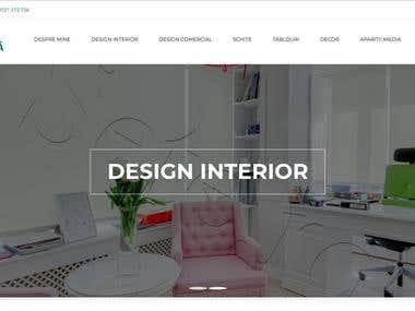 Interior Designer Presentation website