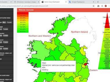 Statistical Map of Ireland