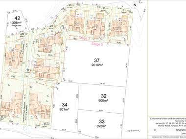 Conceptual urban and architectural design for 8 lots 2015 y